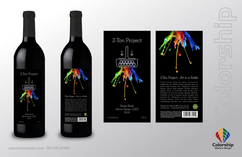 2-Ton Crush Wine Packaging Design