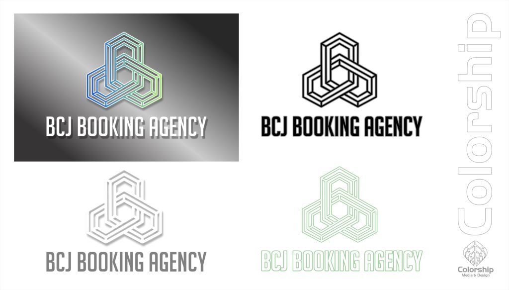 BCJ Booking Agency Logo Examples