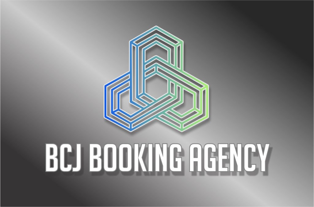 BCJ Booking Agency Logo FC on Silver