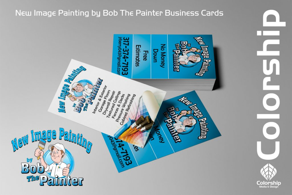 Bob the Painter logo and cards