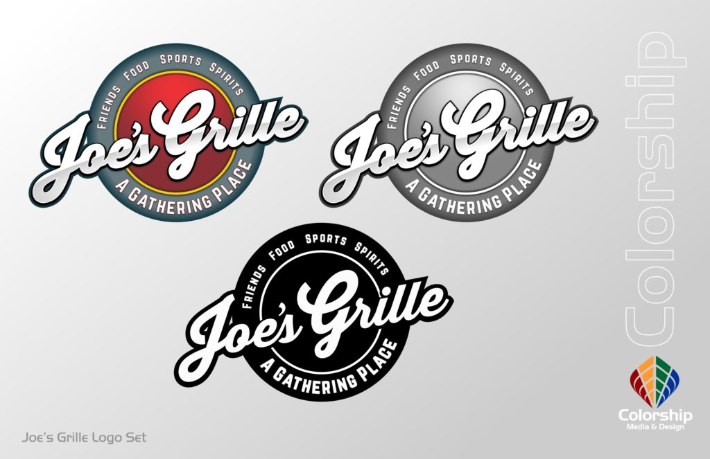 Joe's Grille Logo Proof Set