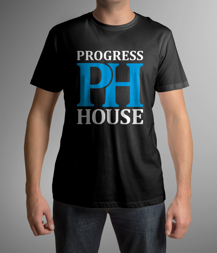 Progress House T front mockup