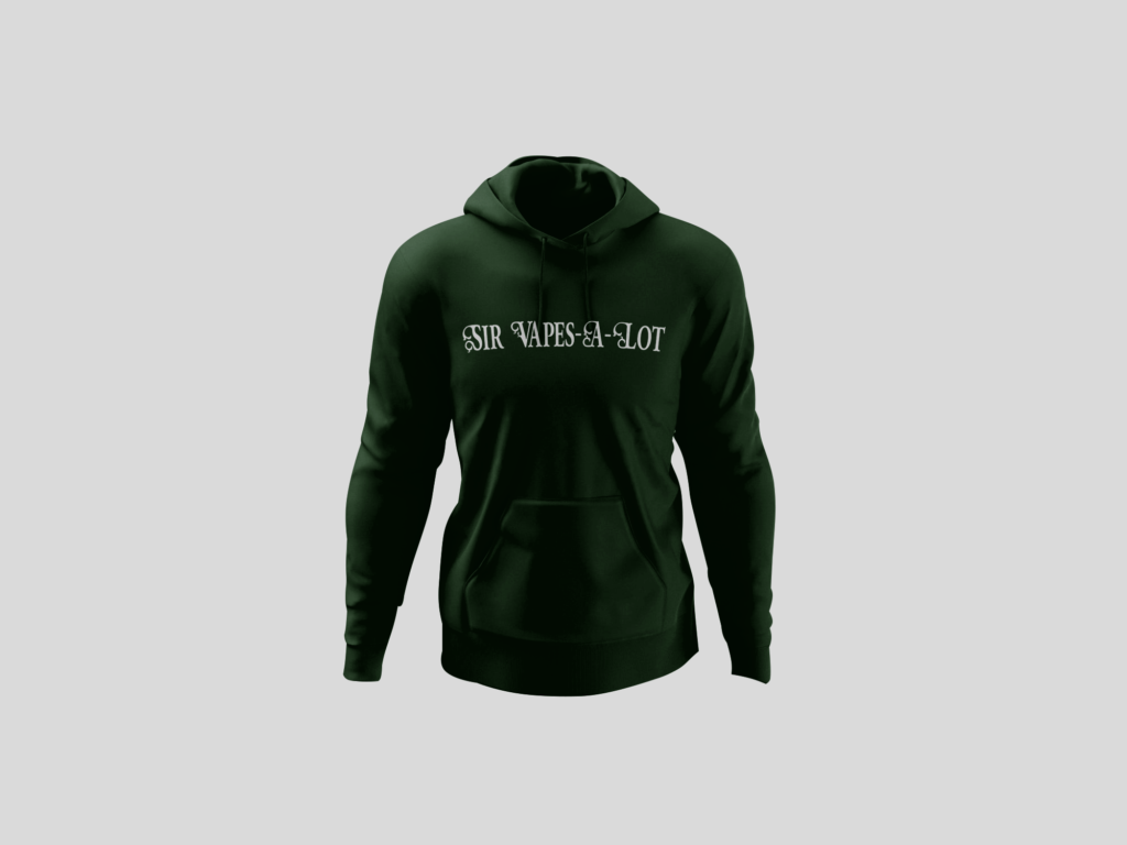 Sir Vapes Alot Hoodie 1 color Front