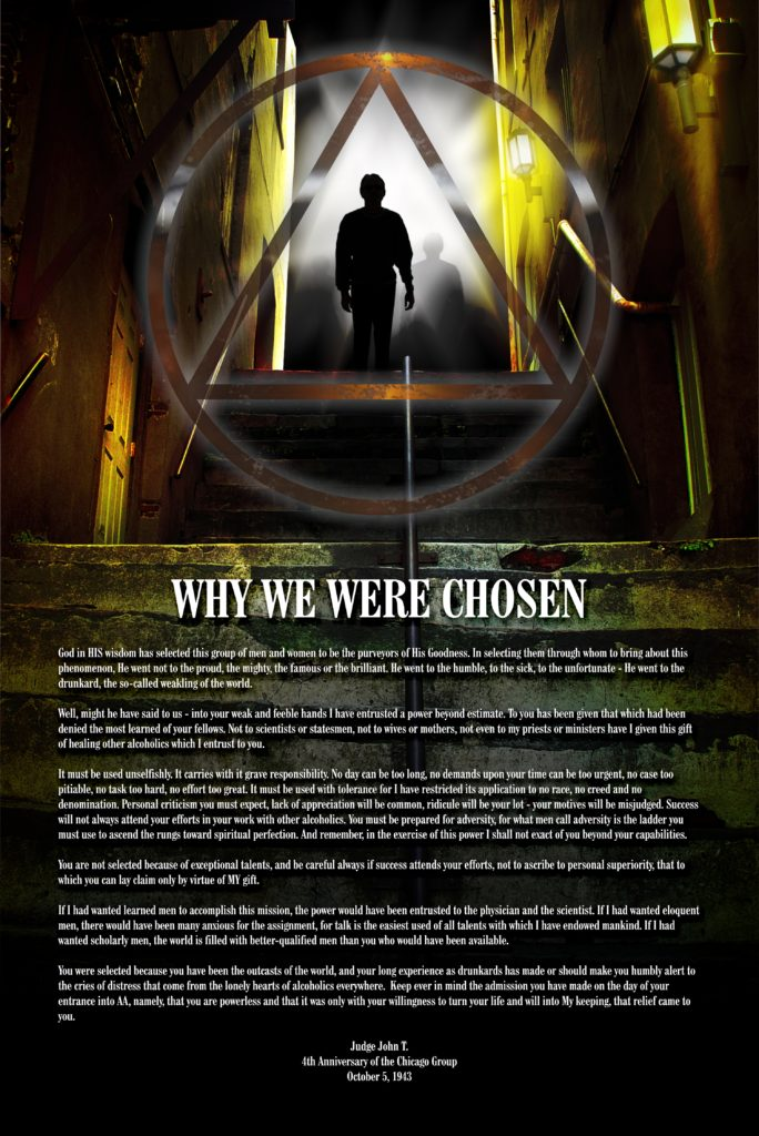 Why We Were Chosen poster at 50 percent actual size