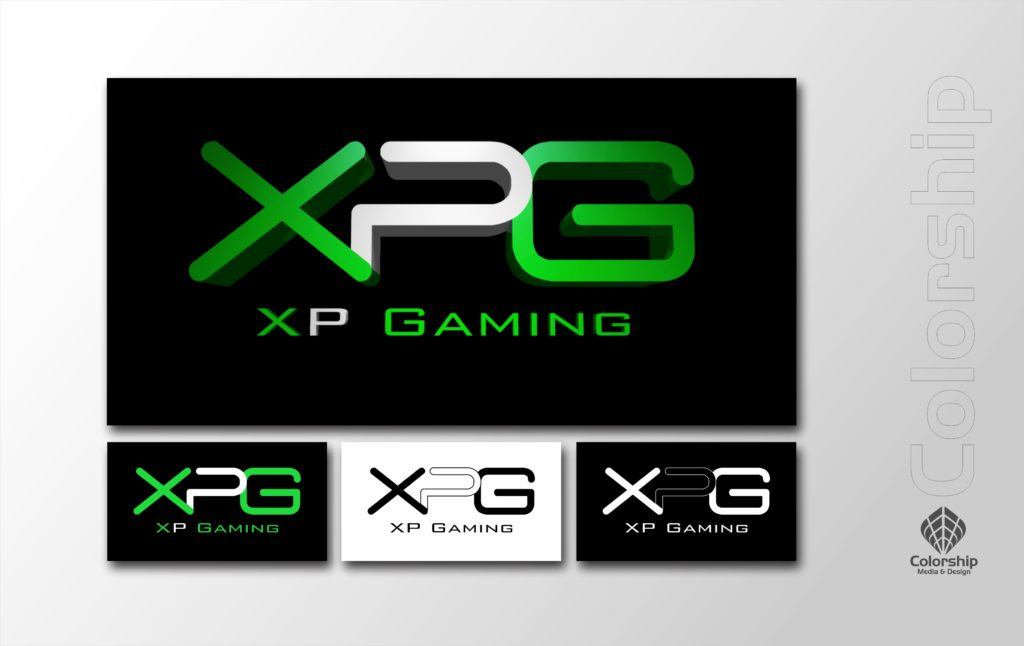 XPGaming Logo Set and Presentation in Green