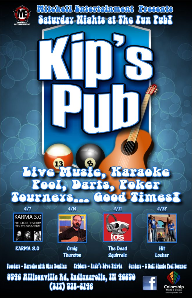 kip's pub poster April 2018